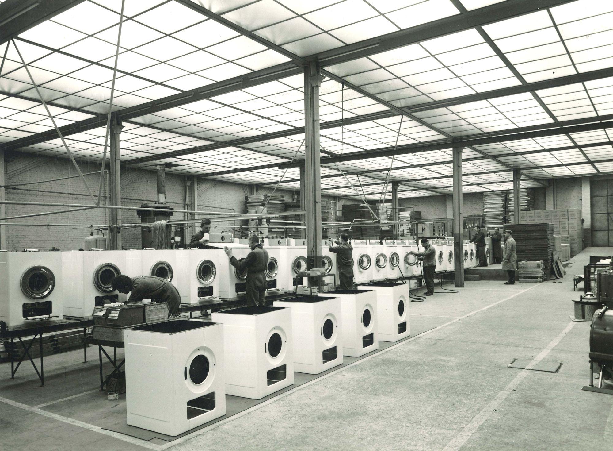 Wasautomaten Flandria Tiegem 1975