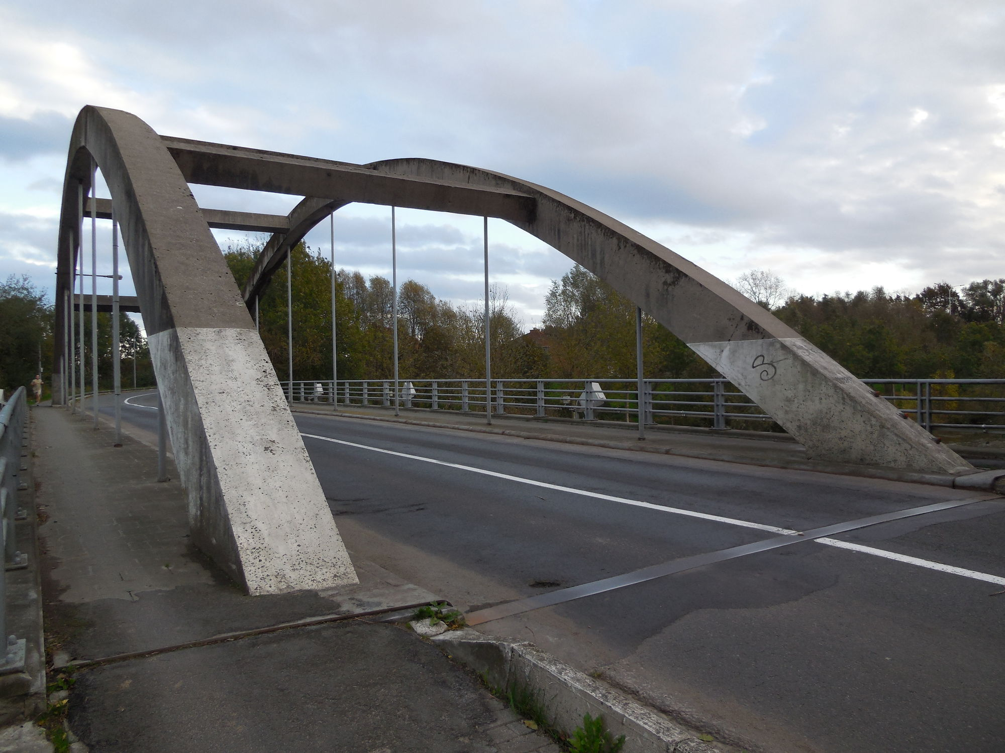 De Leiebrug tussen Bissegem en  Marke
