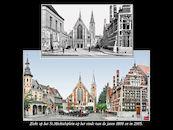Sint-Michielsplein eind 1800 en  2005