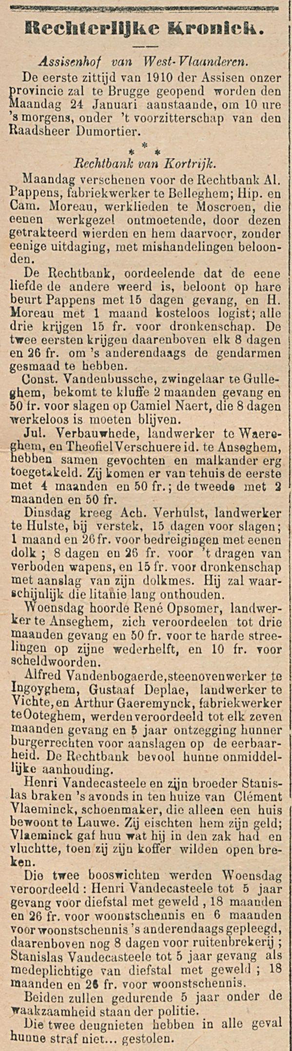 Rechterlijke Kroniek.