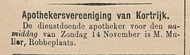 Apothekersvereeniging van Kortrijk.