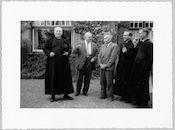 Westflandrica - Stijn Streuvels met een groep van het college van Tielt