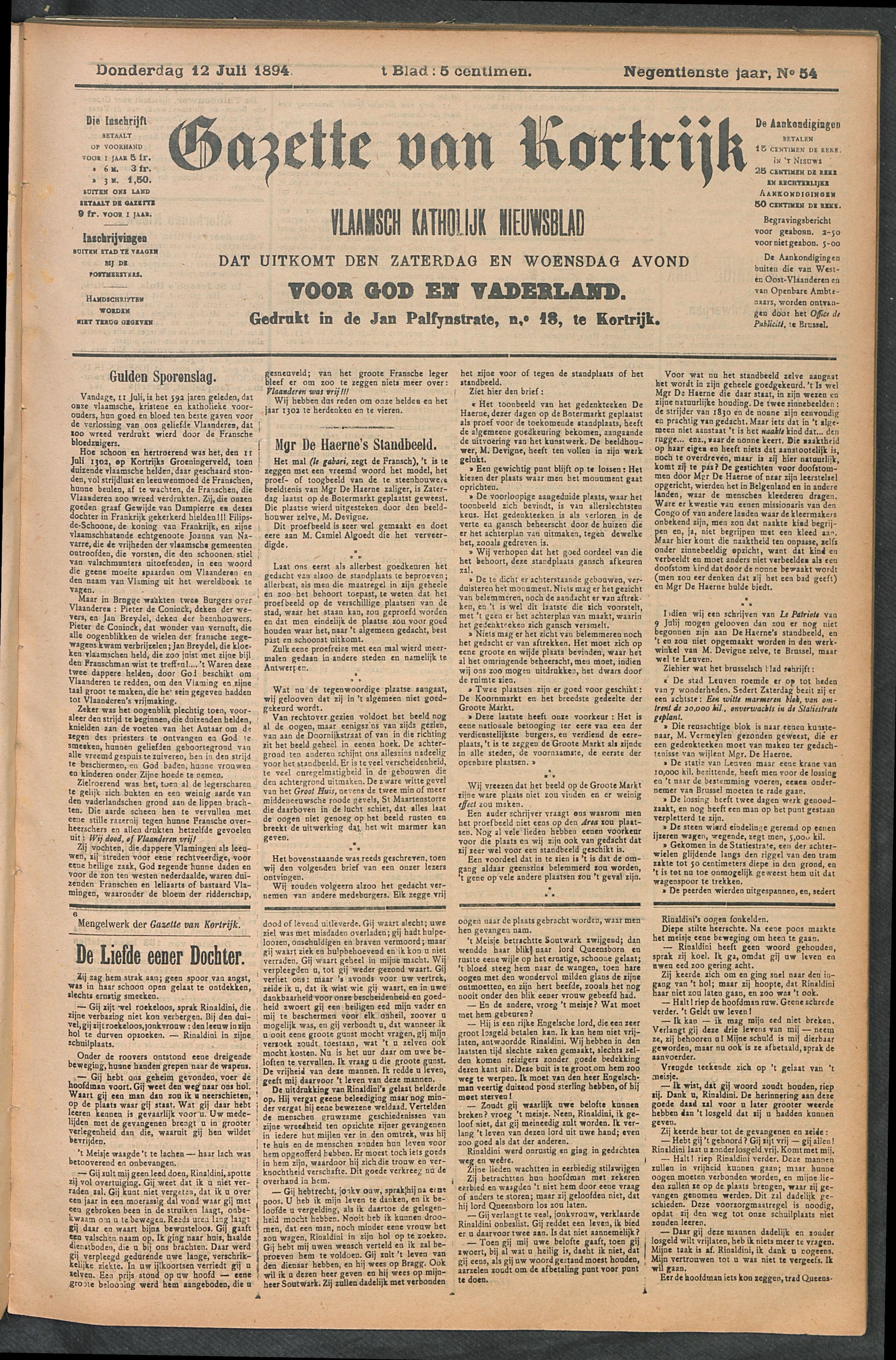 Gazette Van Kortrijk 1894-07-12 p1