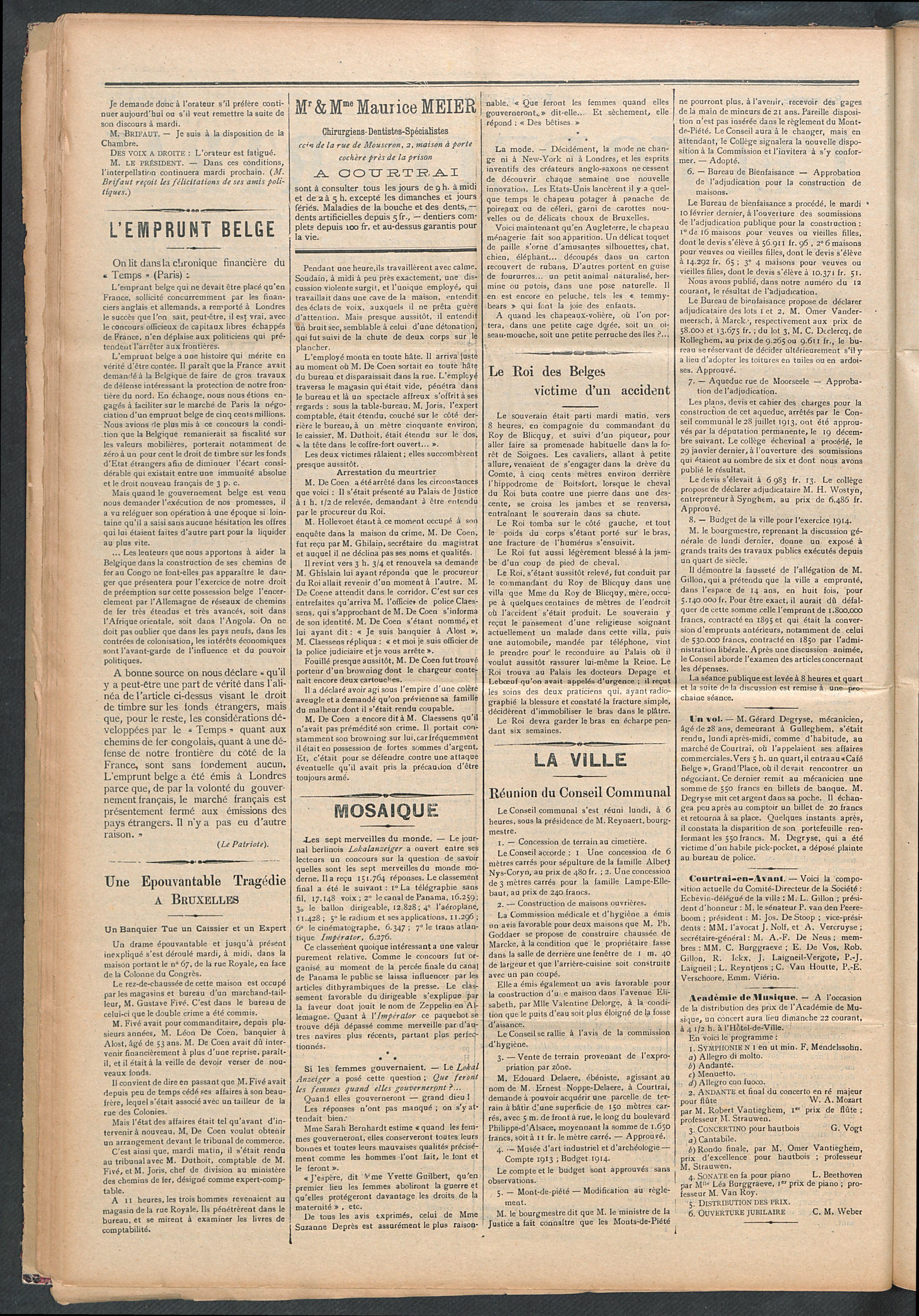 L'echo De Courtrai 1914-02-19 p2