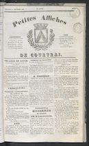 Petites Affiches De Courtrai 1836-09-11