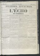 L'echo De Courtrai 1852-08-20