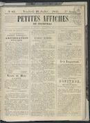 Petites Affiches De Courtrai 1841-07-16