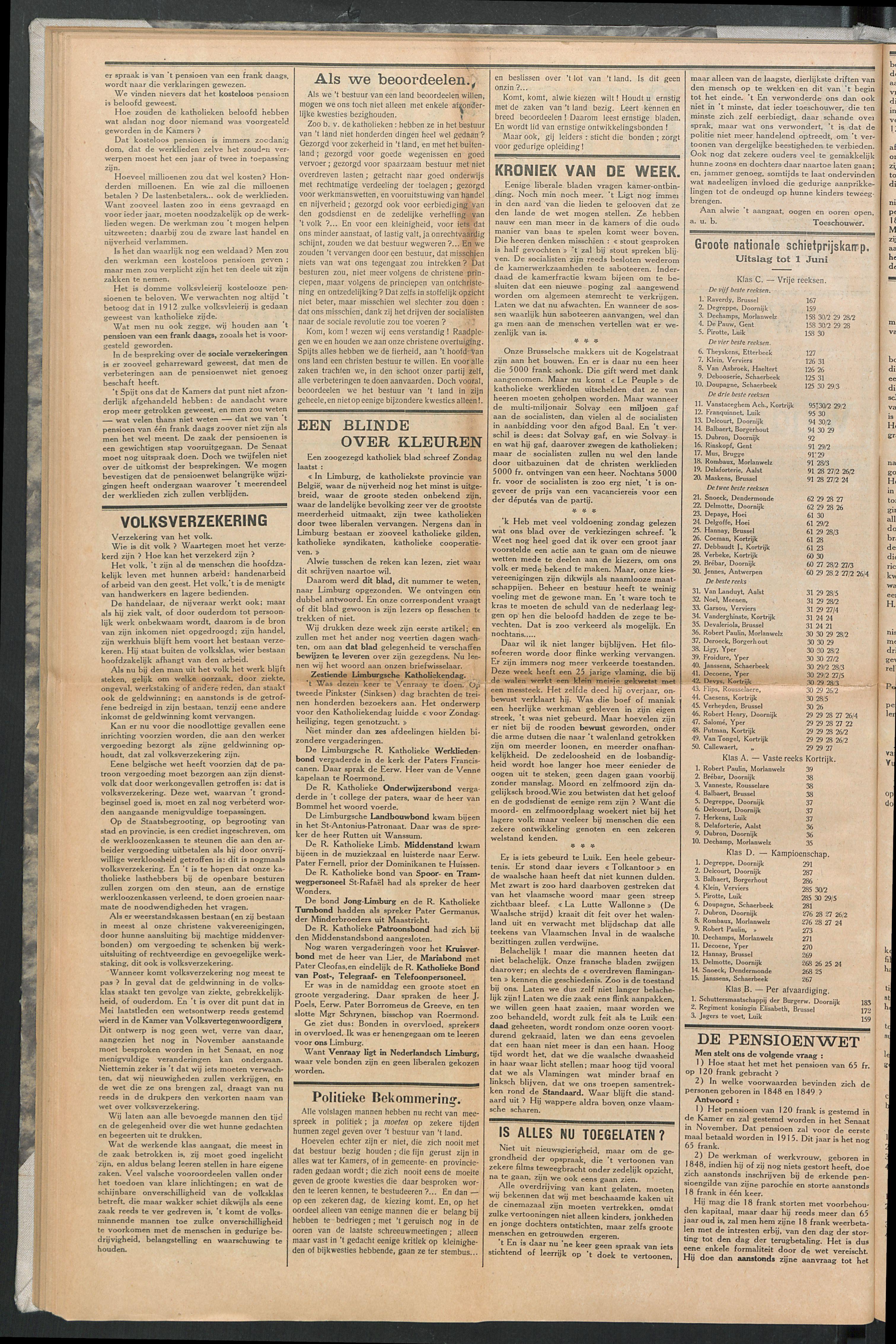 Het Kortrijksche Volk 1914-06-07 p2