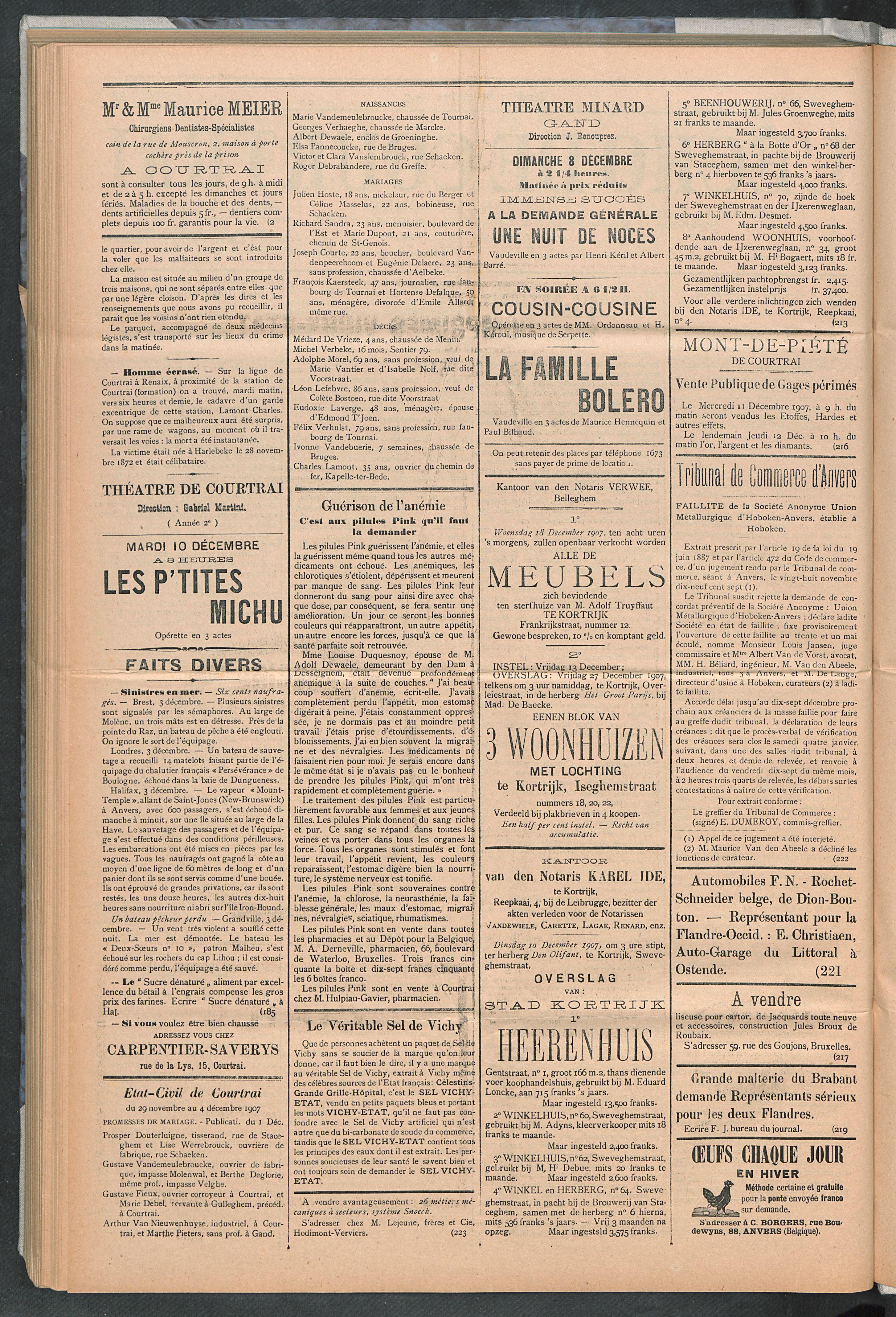 L'echo De Courtrai 1907-12-05 p2