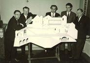 Podiummaquette Gulden Sporenspel 1952