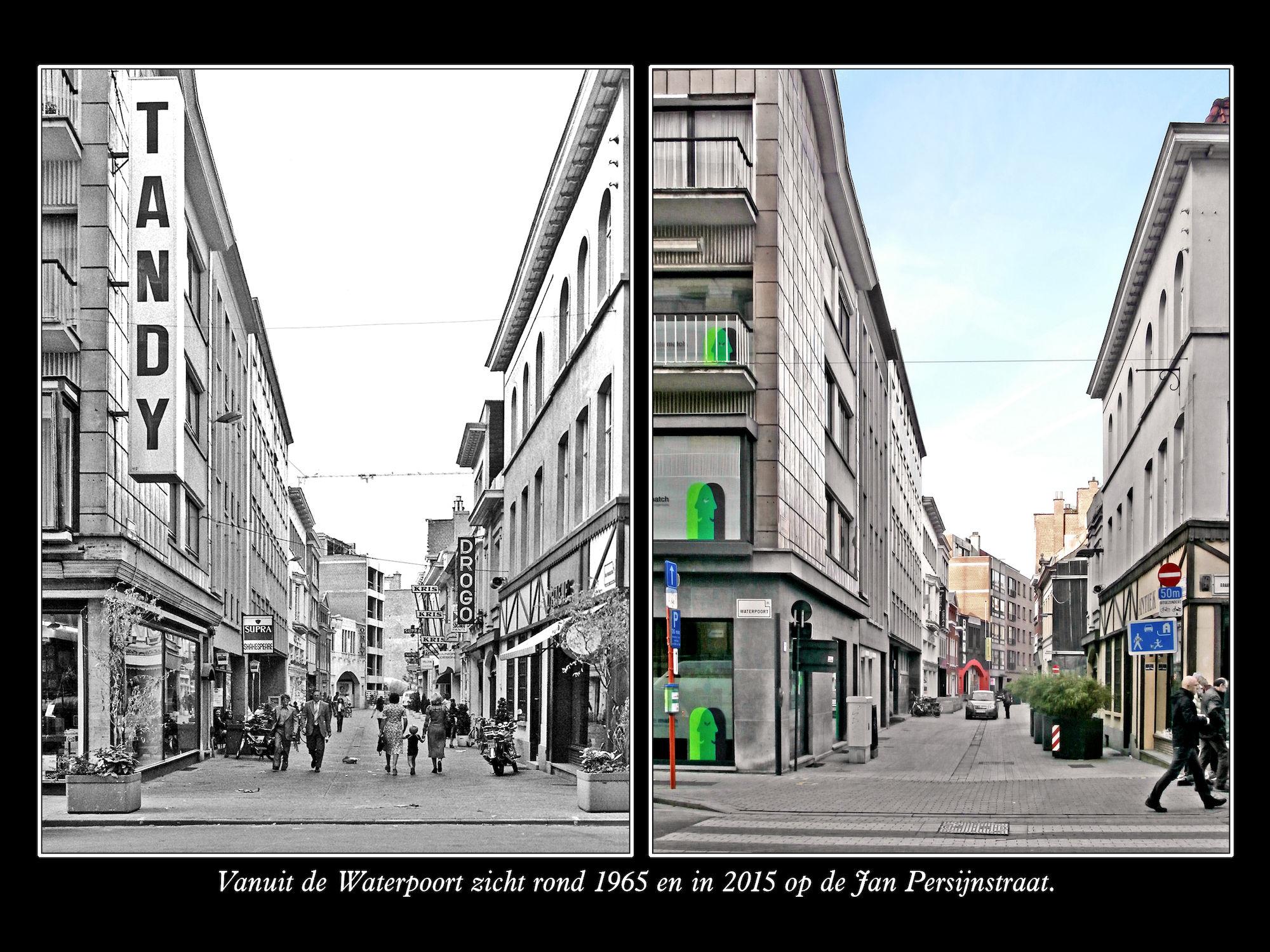 Jan Persijnstraat ca 1965 en 2015