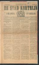 De Stad Kortrijk 1887-10-30
