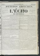 L'echo De Courtrai 1853-07-03