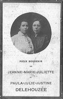 Jeanne-Marie-Juliette en Paula-Julie-Justine Delehouzée