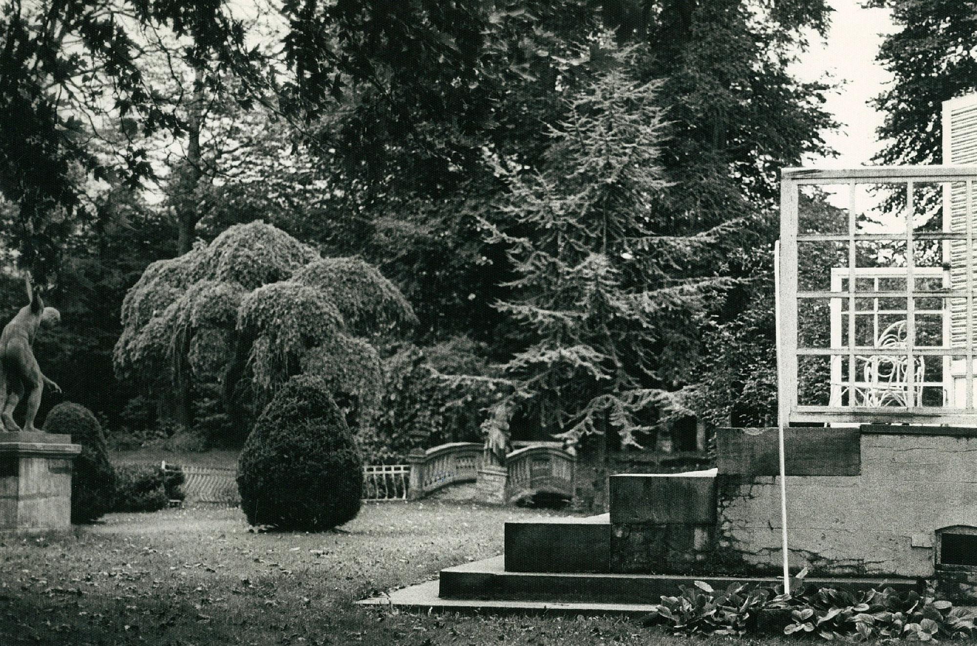 Tuin van de villa van A. Samain in de Wolvendreef