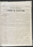 L'echo De Courtrai 1861-11-08