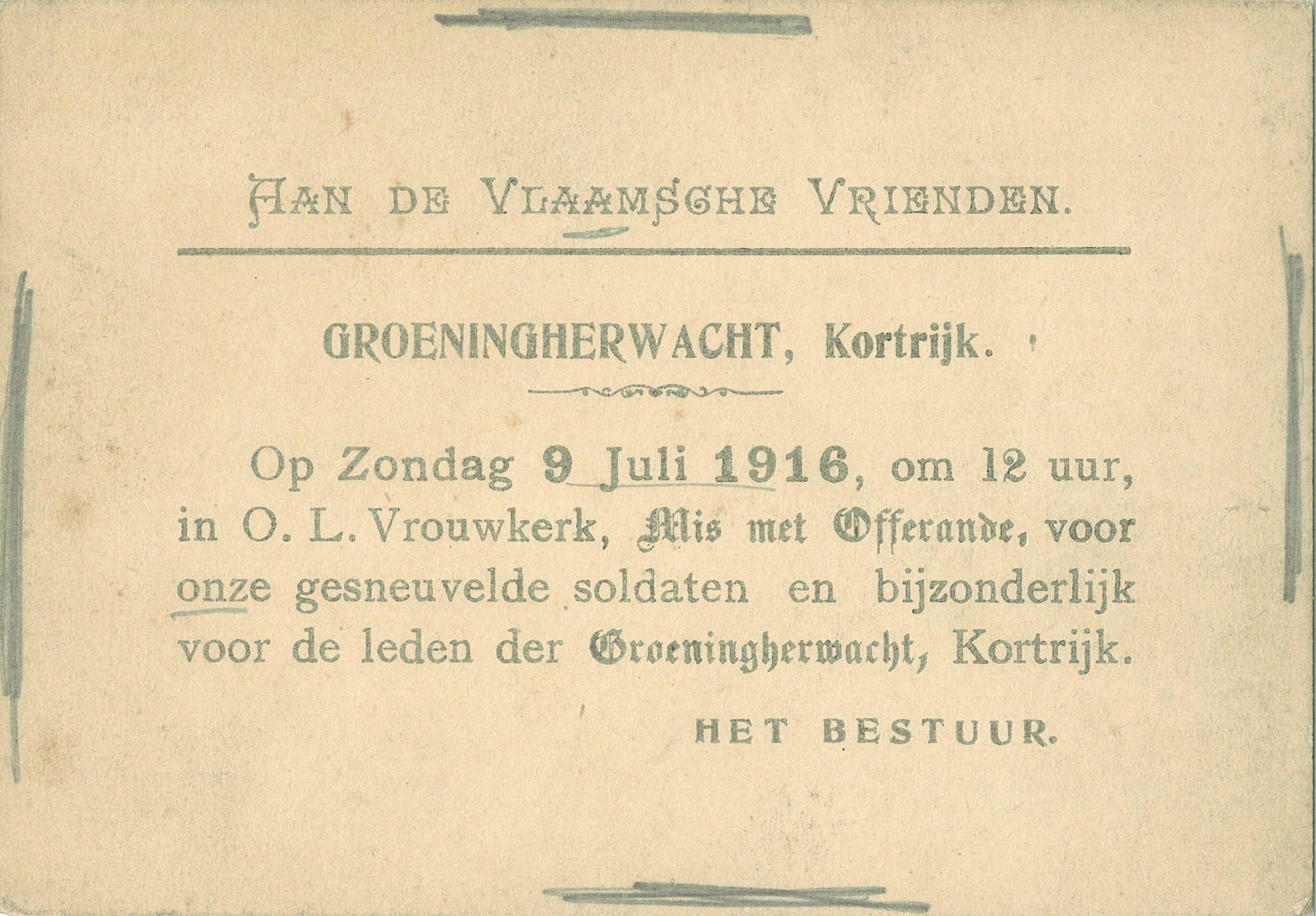 Misviering in 1916