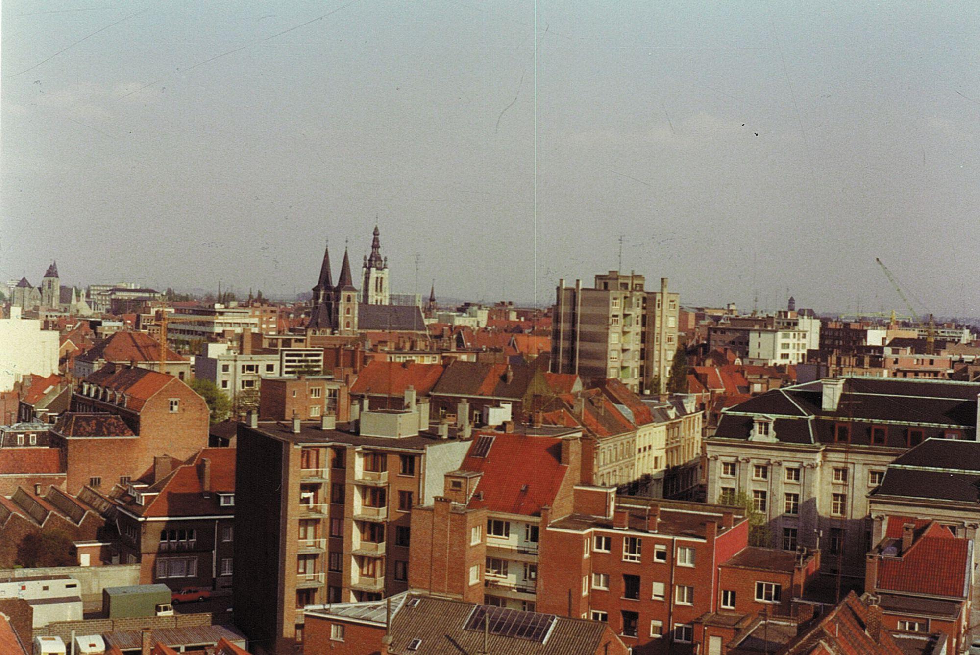 Luchtfoto Kortrijkse binnenstad