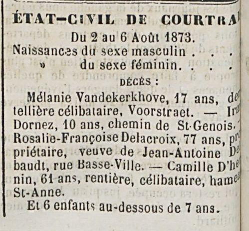 STAT—CIVIL DE COURTRA