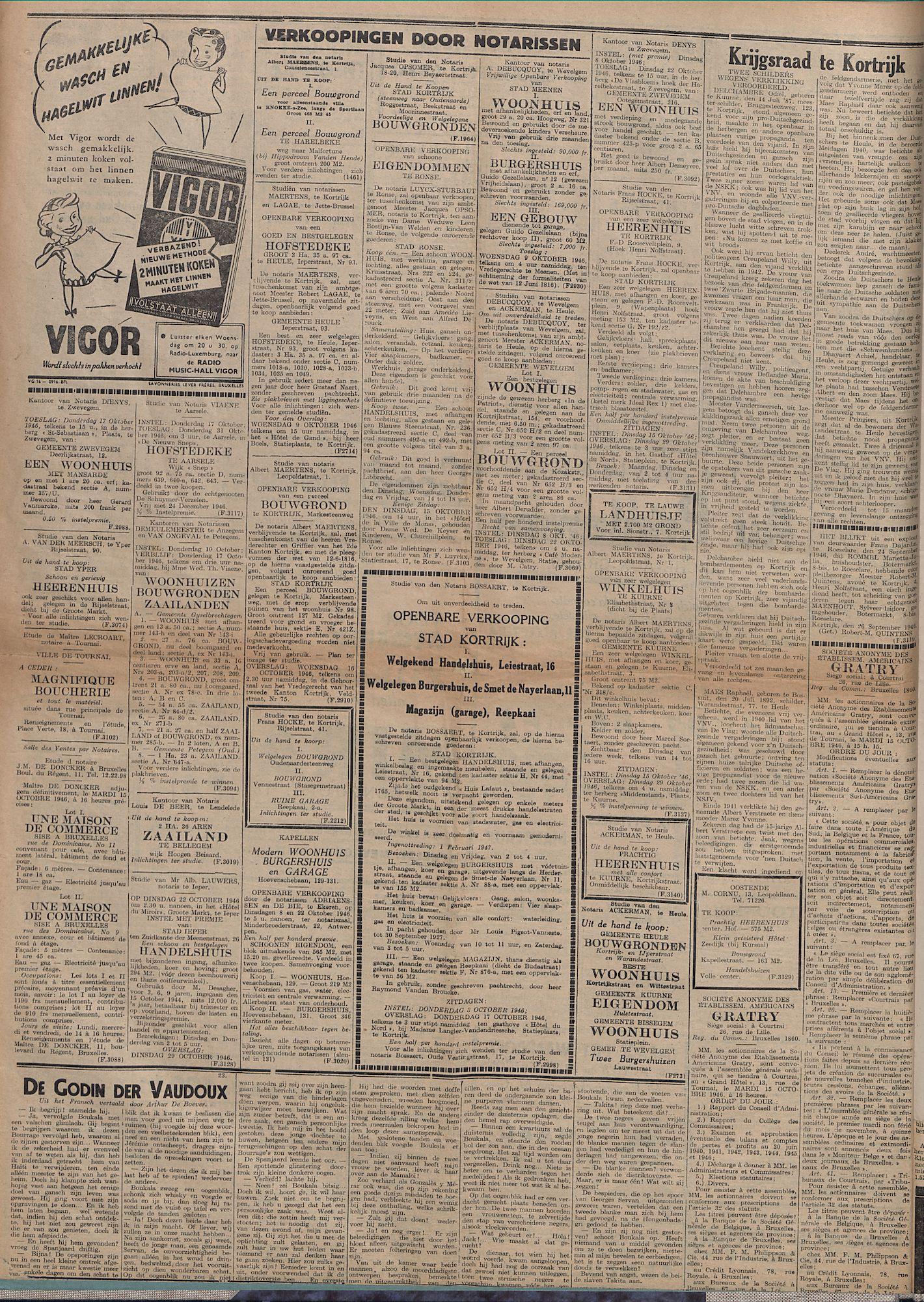 Kortrijksch Handelsblad 4 oktober 1946 Nr80 p4