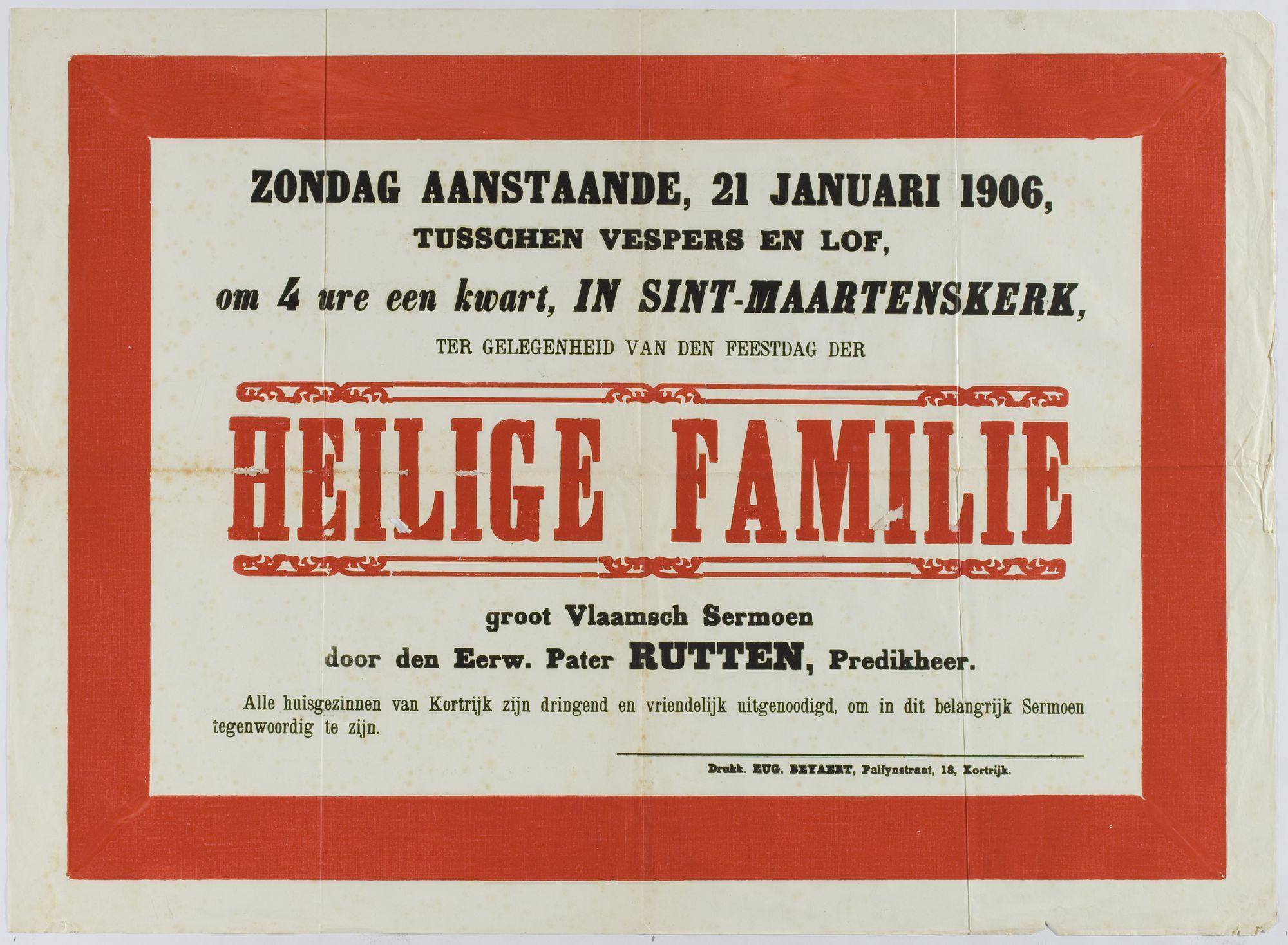 Plechtigheden Sint-Maartenskerk 1906