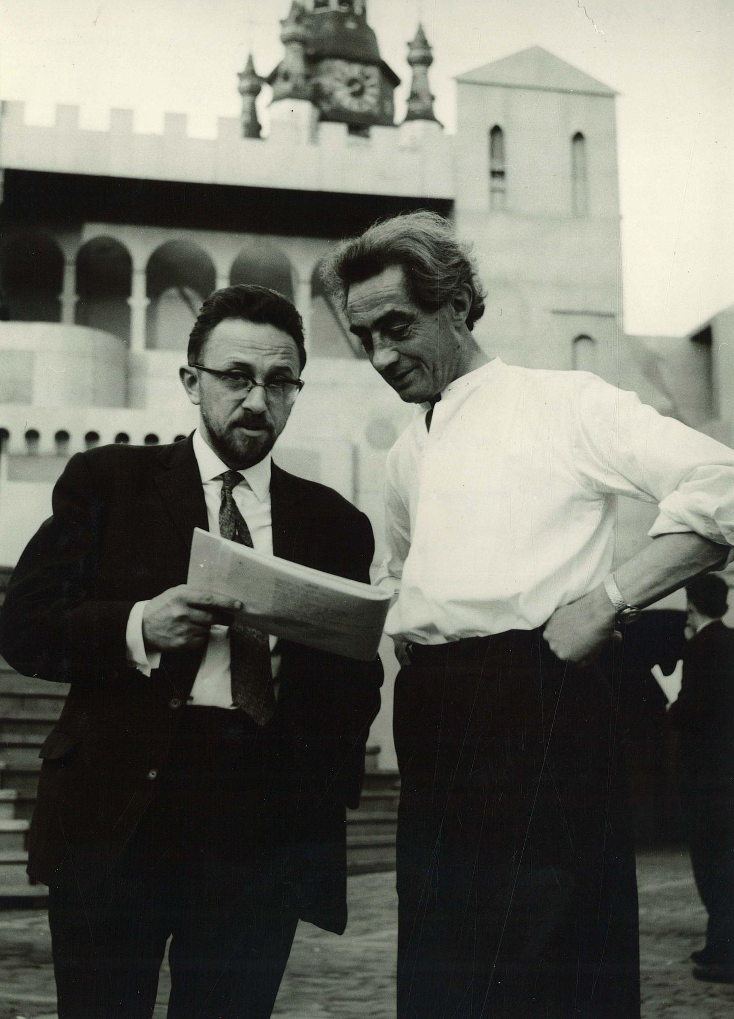 Marcel Notebaert en Antoon Vander Plaetse