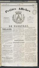 Petites Affiches De Courtrai 1837-01-05