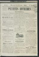 Petites Affiches De Courtrai 1841-02-24