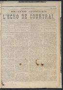 L'echo De Courtrai 1873-10-30