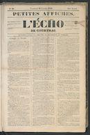 L'echo De Courtrai 1849-02-16 p1
