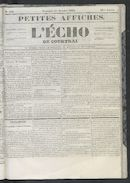 L'echo De Courtrai 1852-10-01