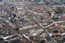 Zicht op Kortrijk vanuit de lucht