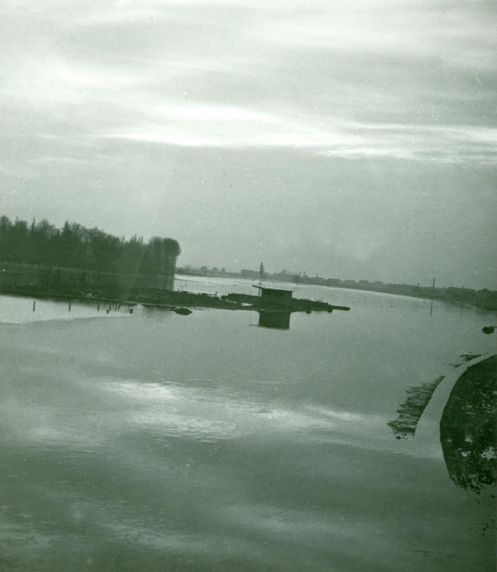 Overstroming aan de Drie Duikers 1952