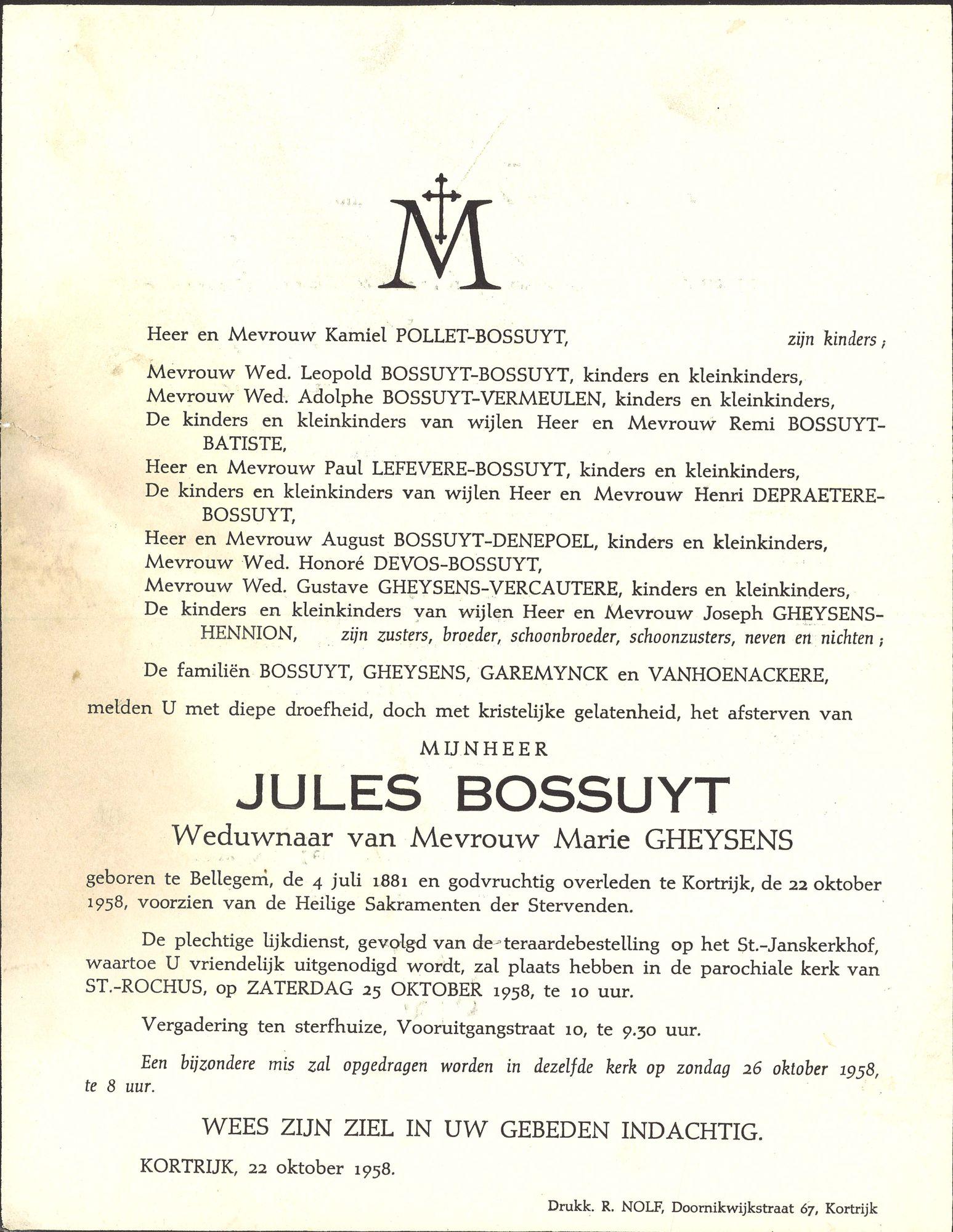 Jules Bossuyt