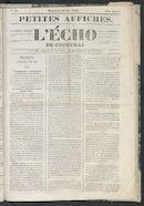 L'echo De Courtrai 1848-05-21 p1