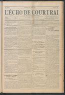 L'echo De Courtrai 1914-07-26