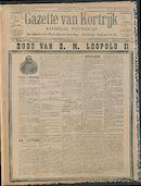 Gazette Van Kortrijk 1909-12-19
