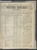 Petites Affiches De Courtrai 1841-06-20