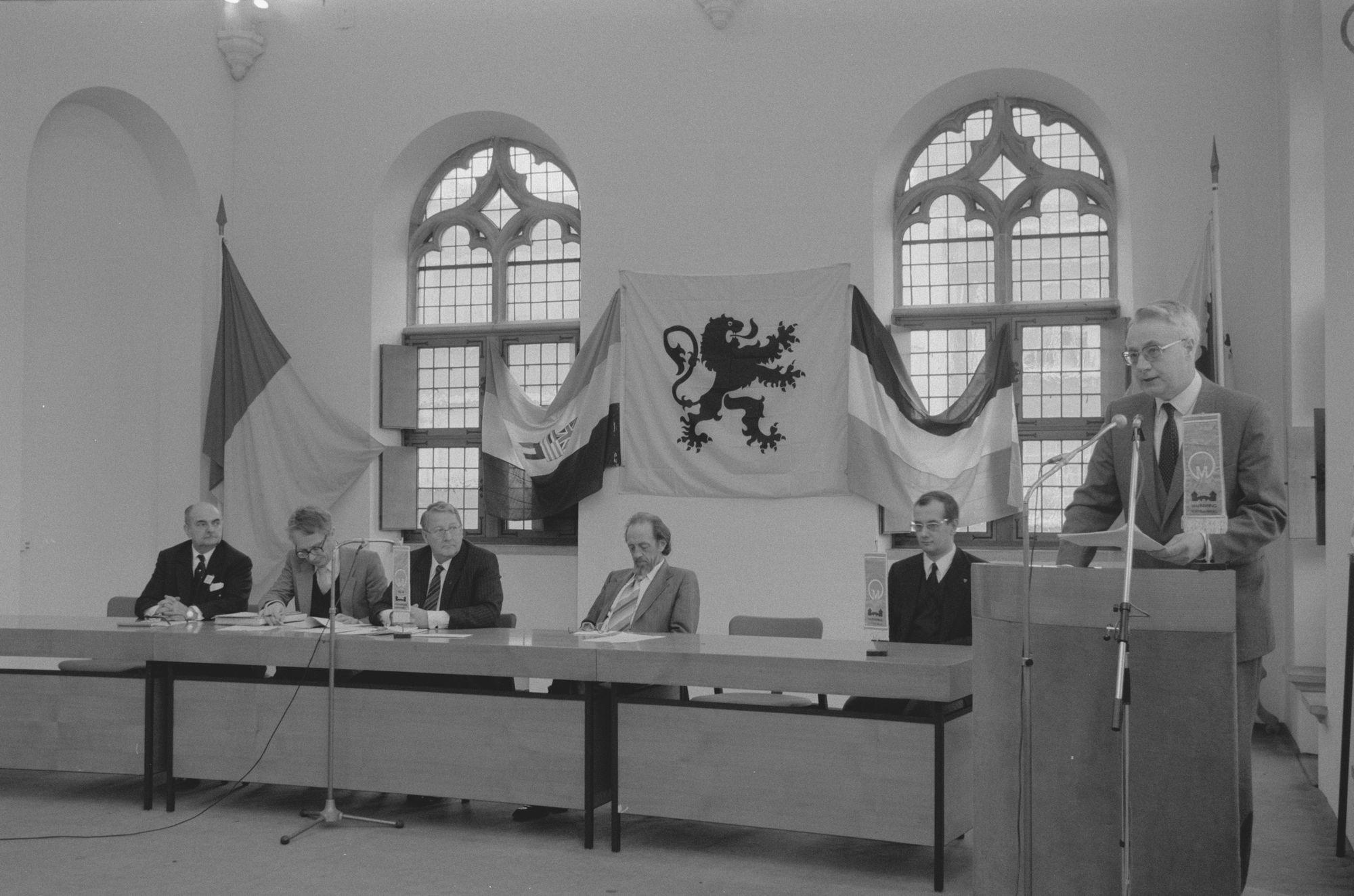 Uitreiking van de André Demedtsprijs in 1983