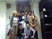 Jim Ackou, Eline Brulez, Sabine Detremmerie, Katia Hillewaere, Sanne Dufour, Elke Delefortrie, Marianne Decuypere en Riet Buyse