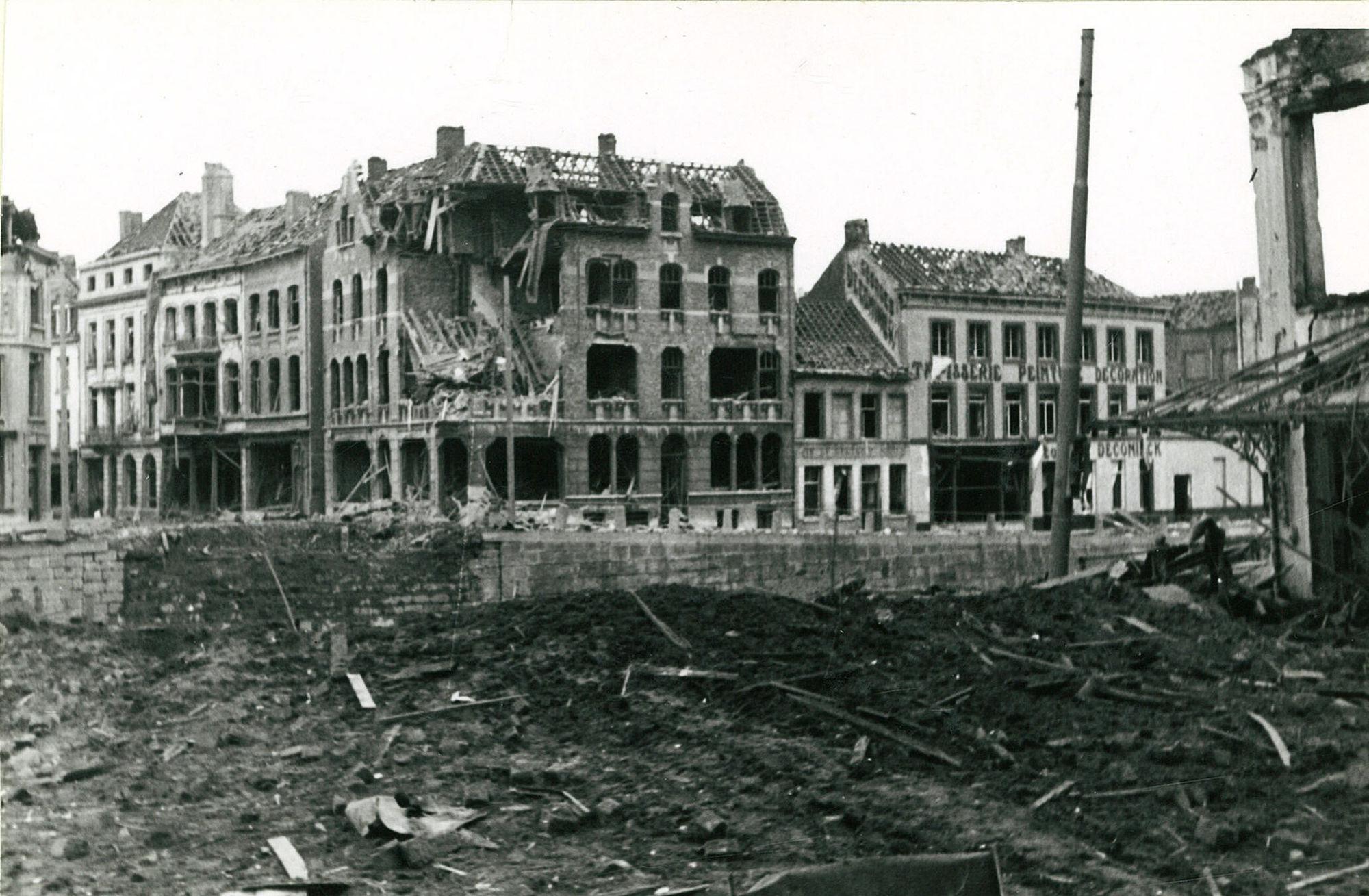 De Leiebrug tijdens de Tweede Wereldoorlog