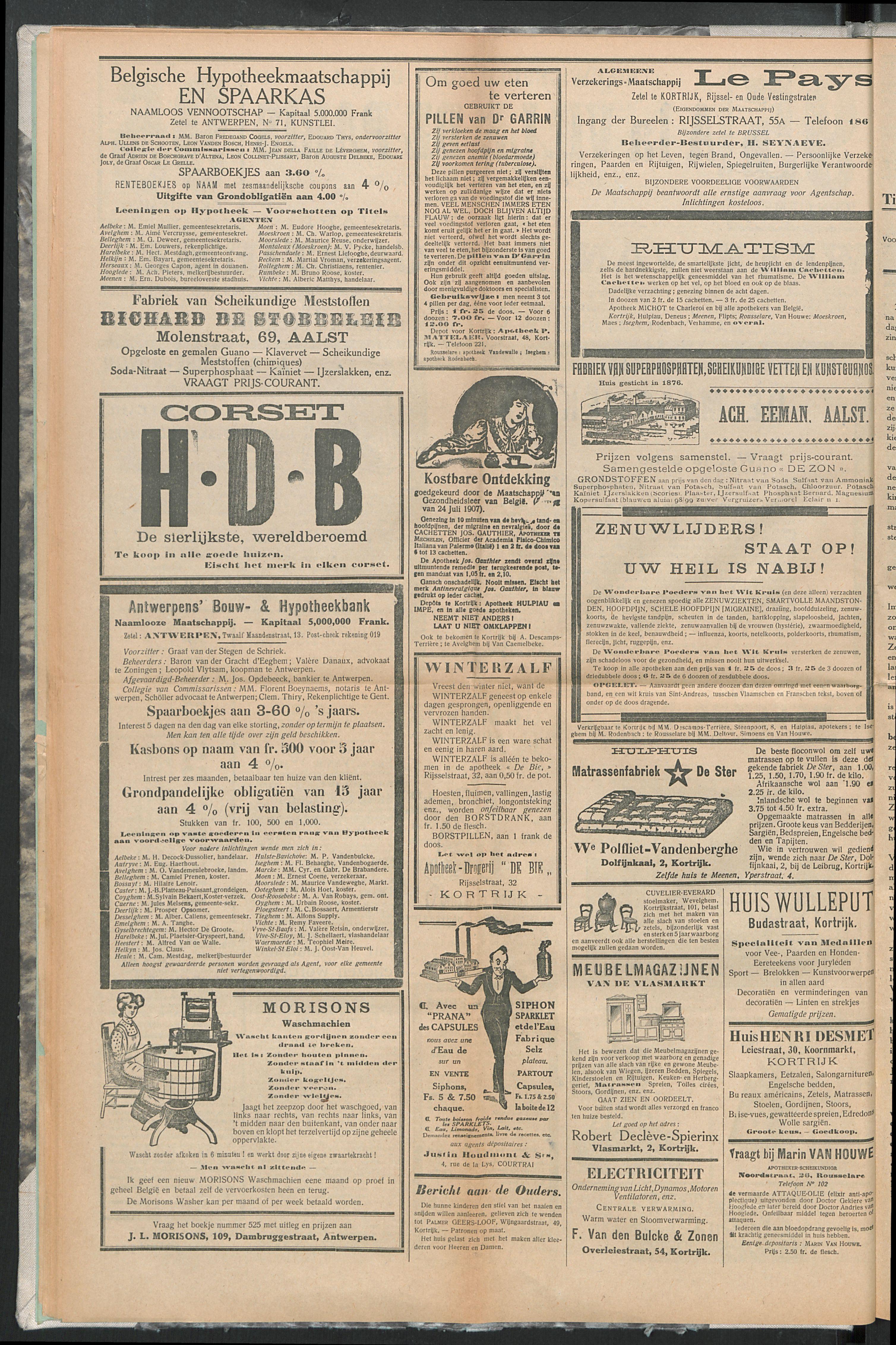 Het Kortrijksche Volk 1914-02-08 p8
