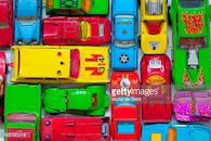 Gekleurde autootjes