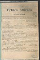 Petites Affiches De Courtrai 1835-08-23