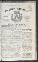 Petites Affiches De Courtrai 1836-08-21