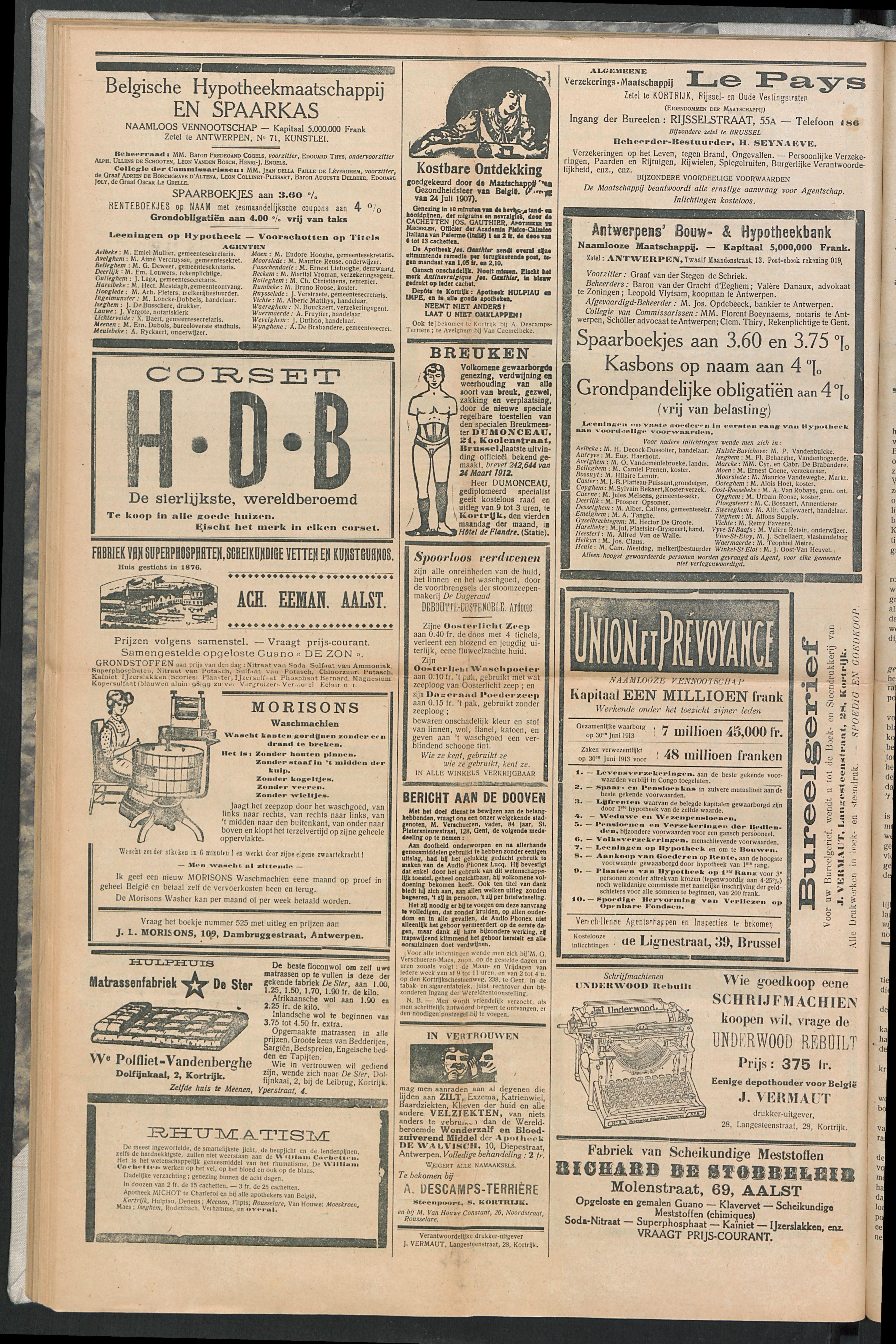 Het Kortrijksche Volk 1914-06-07 p8