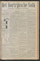 Het Kortrijksche Volk 1911-10-22 p1