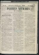 Petites Affiches De Courtrai 1842-02-13