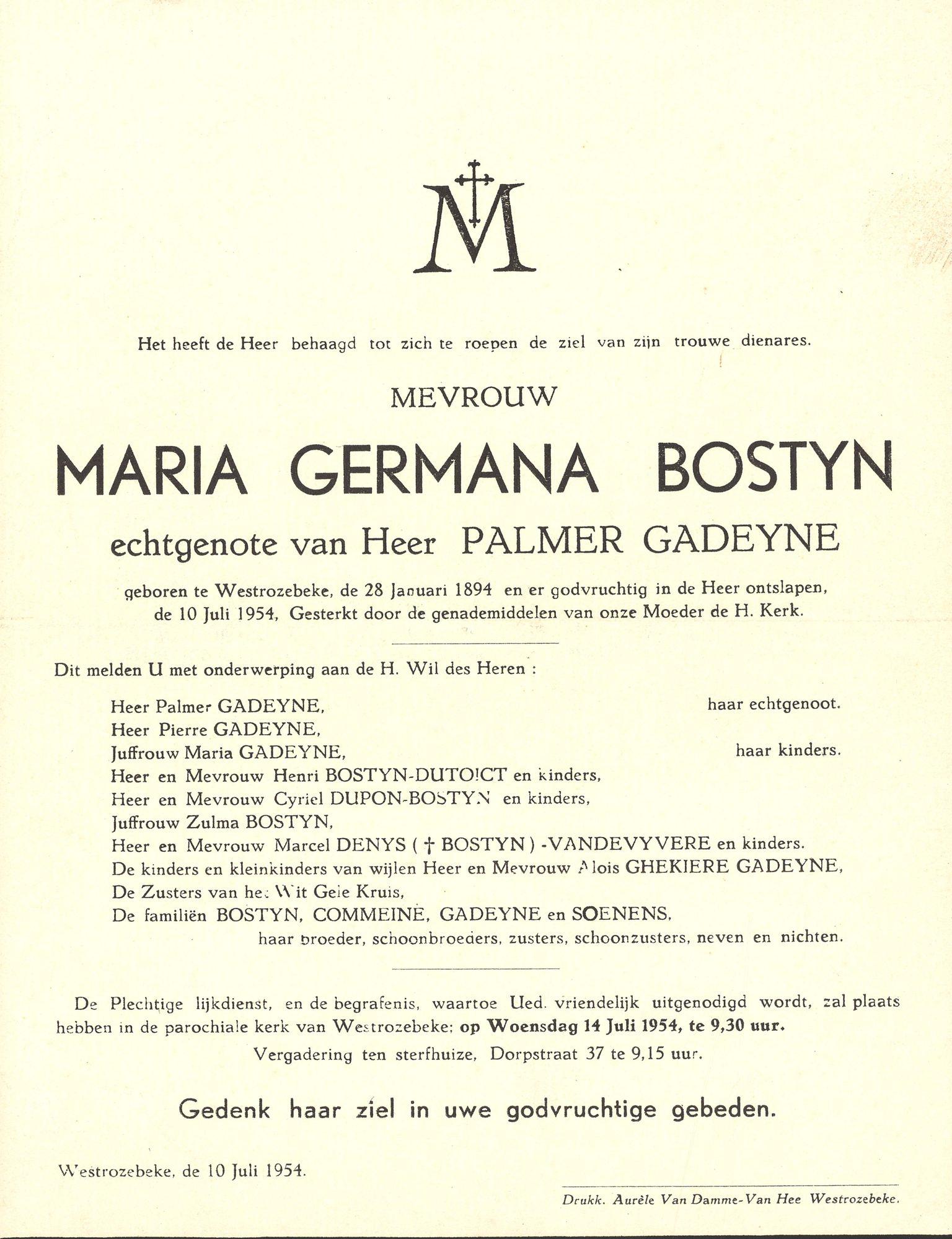 Maria Germana Bostyn