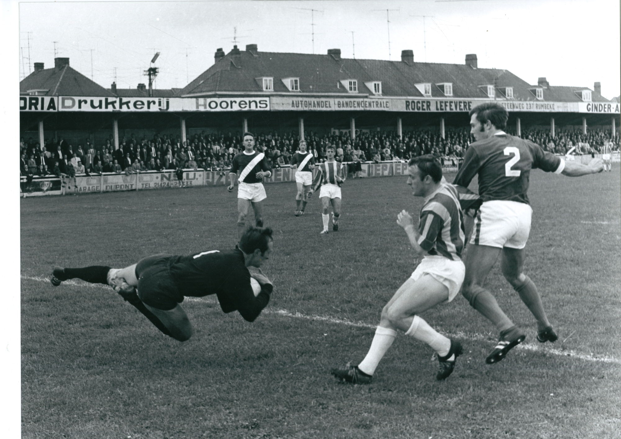 Match tussen Sport en Stade in seizoen 1967-68